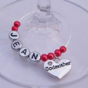 Godmother Personalised Wine Glass Charm
